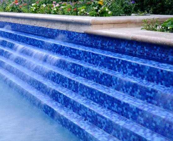 Pool Glass Tiles and mosaics and Landscape Products contemporary-pool