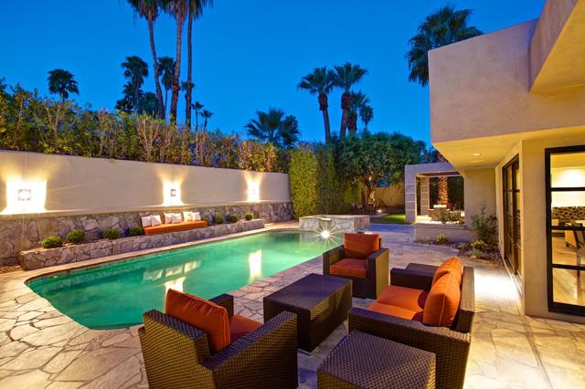 Pool home remodel in palm springs california for Pool design los angeles ca