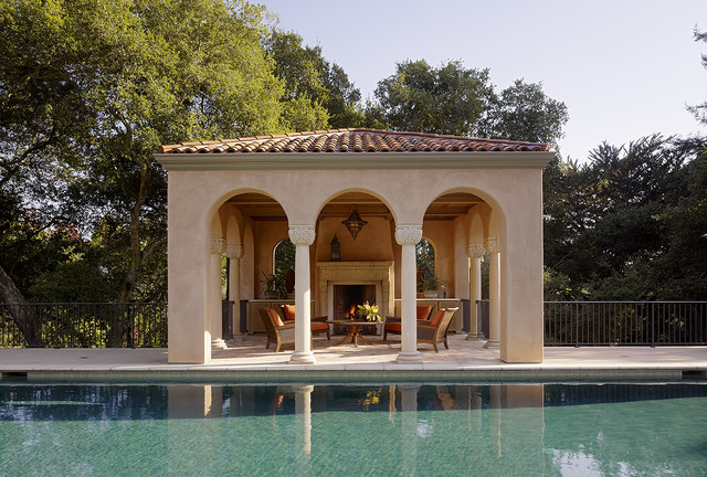 Pool house mediterranean pool san francisco by for Spanish style prefab homes