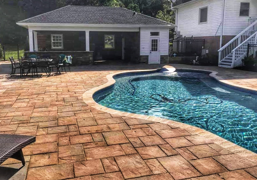 Pool House and Entertainment Area