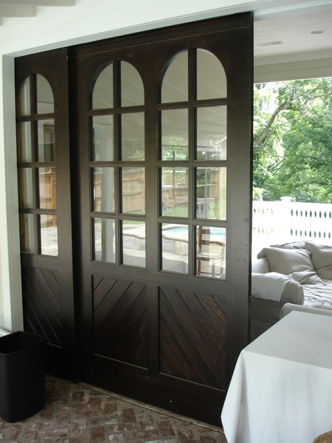 pool house barn doors - traditional - pool - nashville