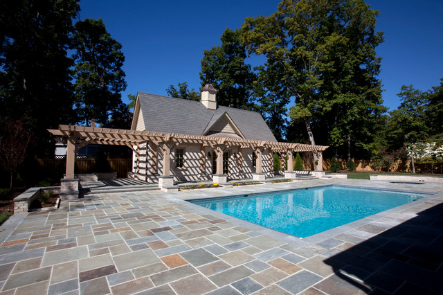 Pool house traditional pool richmond by colonial for Pool design richmond va