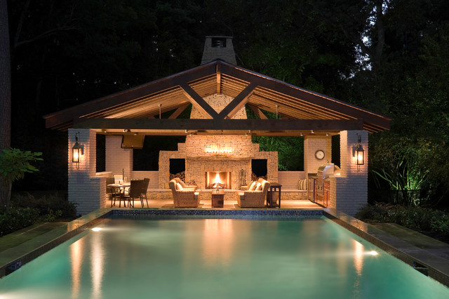 Pool House  Contemporain  Piscine  Houston  Par Exterior Worlds