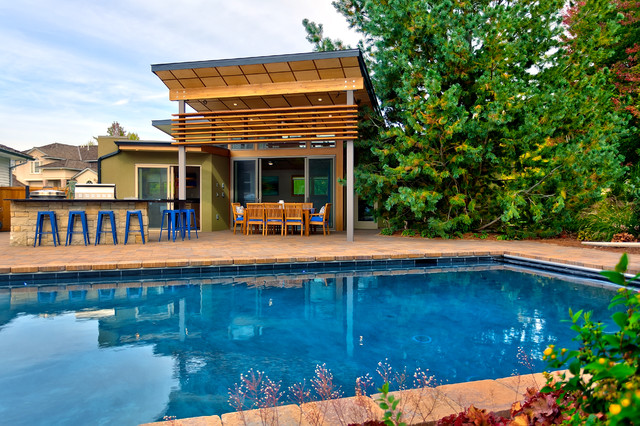 Contemporary Pool Boise Pool House contemporary-pool