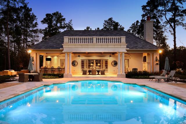 Pool House Kuehn Custom Homes Midcentury Pool