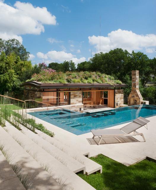 pool house contemporain piscine austin par murray legge architecture. Black Bedroom Furniture Sets. Home Design Ideas