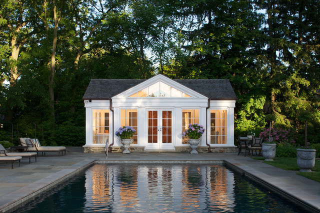 Pool house for Small house design houzz