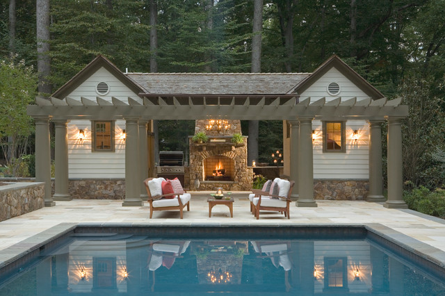 Pool house traditional pool dc metro by rill for Outdoor pool room ideas