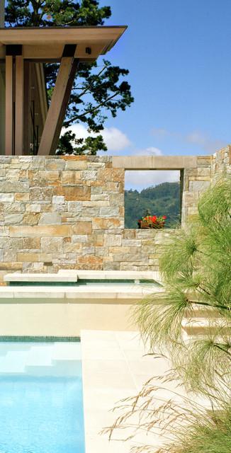 Pool in Stonescape contemporary-pool