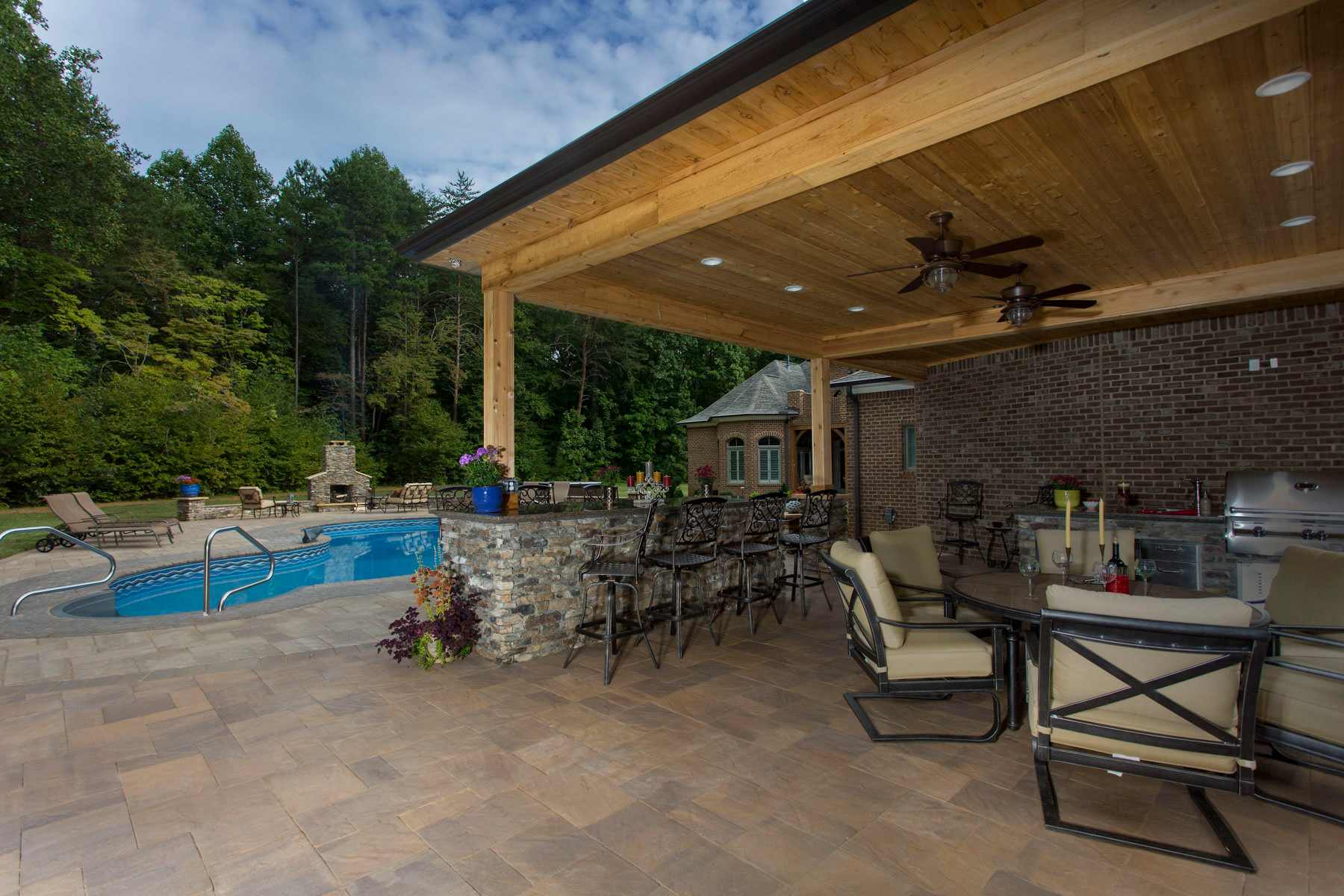 Pool patio and outdoor living space