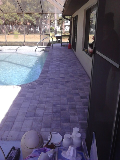 Pool Paver project for Sullivan contemporary-pool