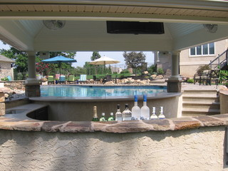pool pool house and swim up bar traditional pool philadelphia by pebble pools inc