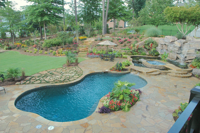 Pool projects traditional pool atlanta by elements landscape - Critical elements for a backyard landscaping ...