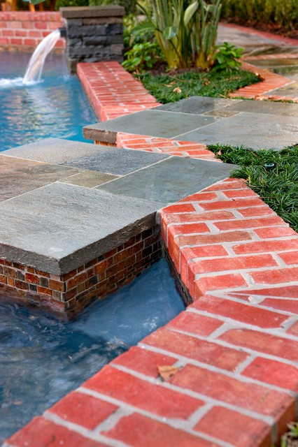 Pool remodel eclectic pool houston by exterior for Exterior worlds landscape design