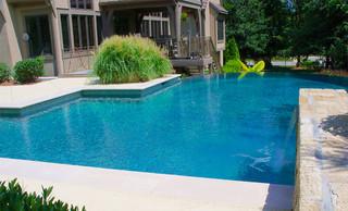 Pool renovations various bauhaus look pools kansas for Pool im bauhaus