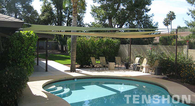 Pool Shade Ideas modern lighting outdoor canopy and backyard pergola pictures of home design and decorating ideas Pool Shade Sails By Tenshon Eclectic Pool