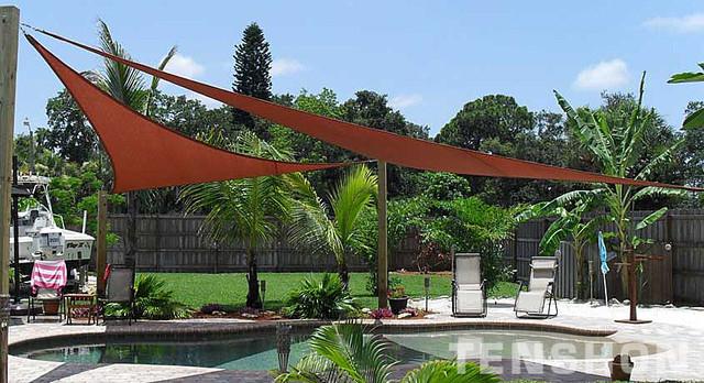 pool shade sails by tenshon