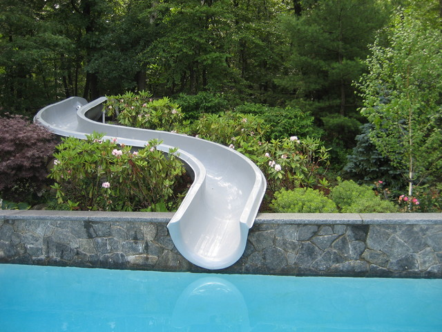 Pool Slide On Hillside Contemporary Boston By