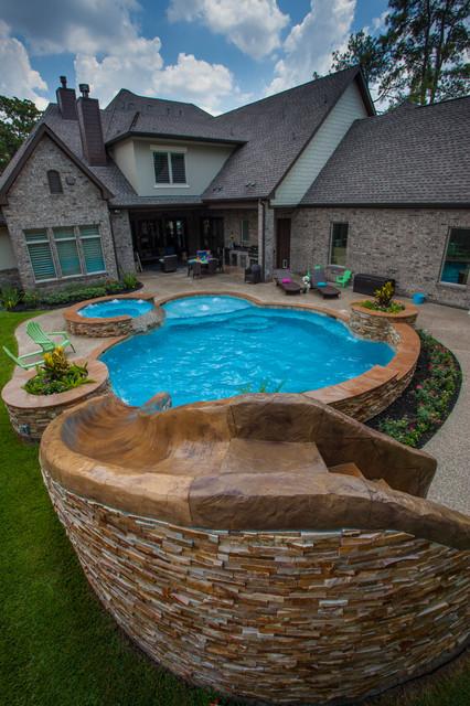 Pool Slides Modern Pool Houston By Richard 39 S Total