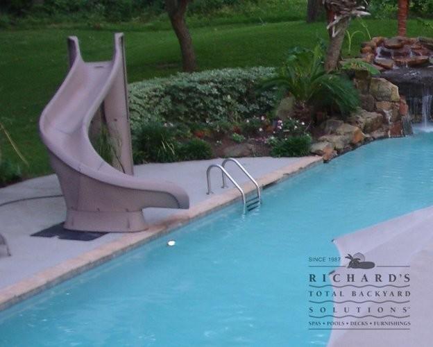 Pool Slides Tropical Pool Houston By Richard 39 S