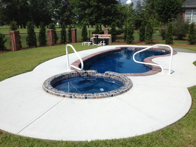 Brand new Pool Spa Combo - Traditional - Swimming Pool & Hot Tub - Raleigh  WG91