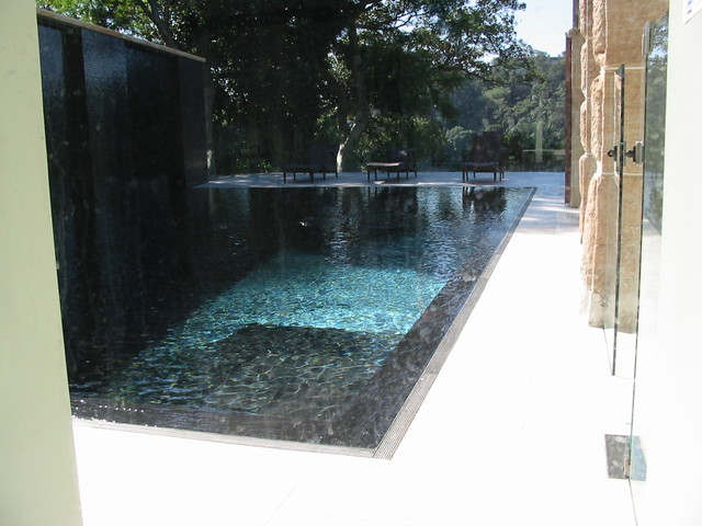 Pool Surrounds Contemporary Pool By Infinity Drain