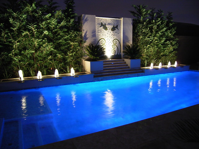 Pool Water Features Contemporary Melbourne By