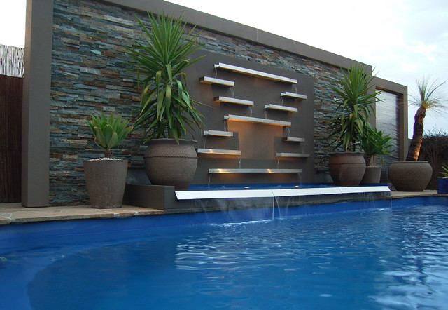 Pool water features contemporary pool melbourne by for Water feature design