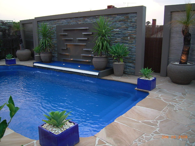 Pool Water Features Contemporary Swimming Pool Amp Hot