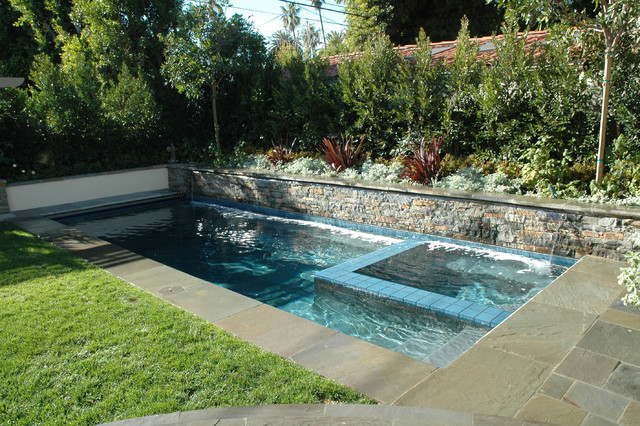Pool waterfall contemporary pool los angeles by for Pool design los angeles