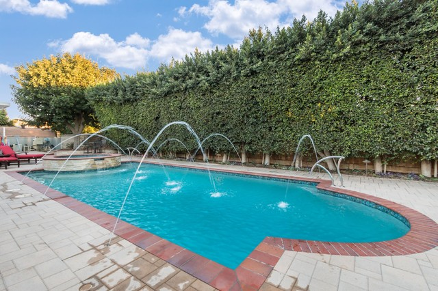 Pool with creative tile designs for Pool design orange county