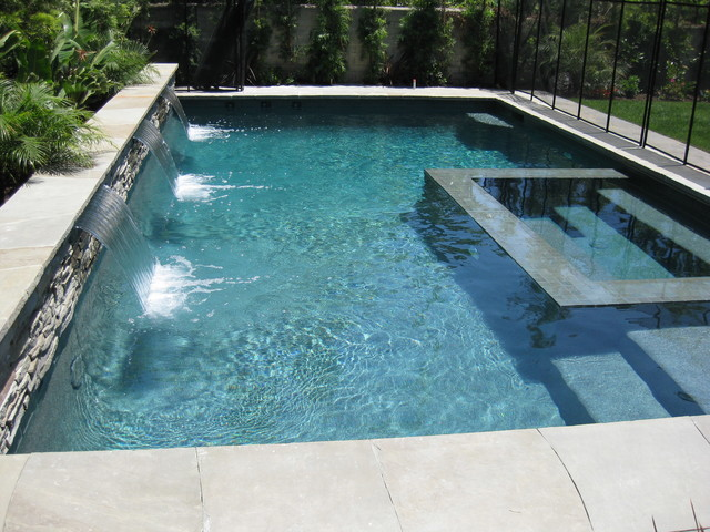 Pool With Swim Jets In Santa Monica California Contemporary Pool Los Angeles By Island