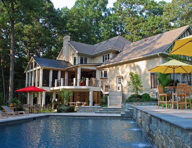 poolhouse  u0026 structures - traditional - pool