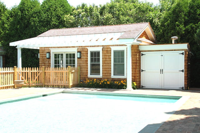 Pool shed pictures joy studio design gallery best design for Cost to build a pool house with bathroom