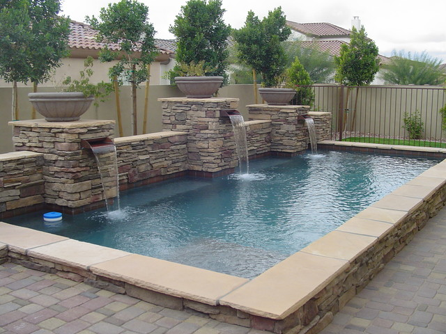 Pools For Small Spaces Eclectic Swimming Pool Phoenix By Monster Pool Company
