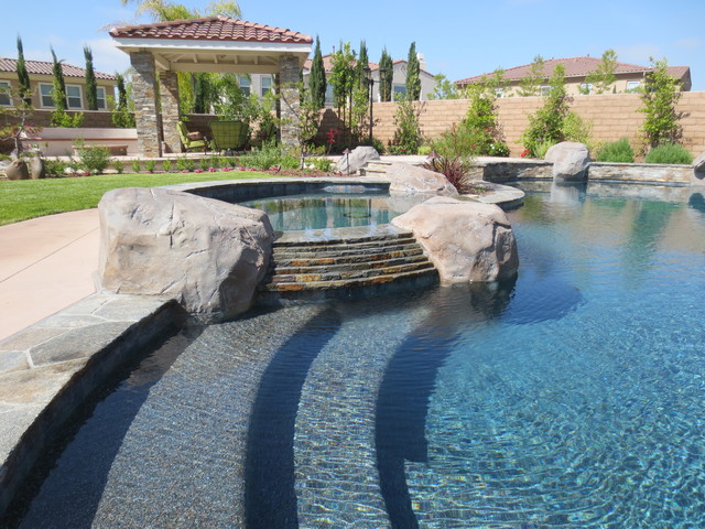 Landscape Boulders Orange County Ca : Pools traditional pool orange county by elite environments