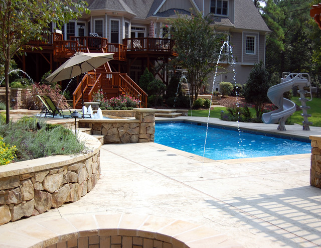 Pools pool raleigh by landvision designs inc for Pool design raleigh nc