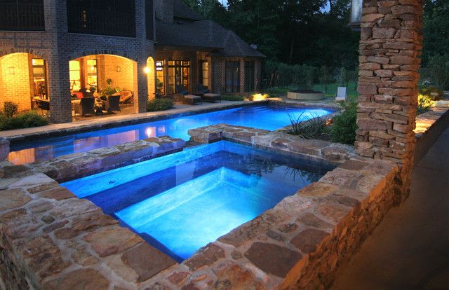 Pools mediterranean houston by preferred pools inc for Pool and spa images