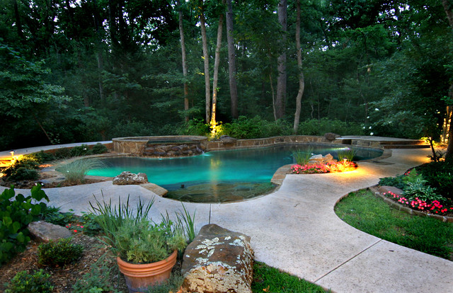 Pools tropical pool houston by preferred pools inc for Tropical pool gardens