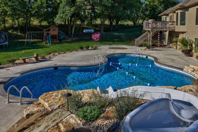 Poolside fun pool omaha by watkins concrete block for Pool design omaha