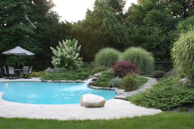 Poolside oasis contemporary pool boston by amy for Garden oases pool entrance