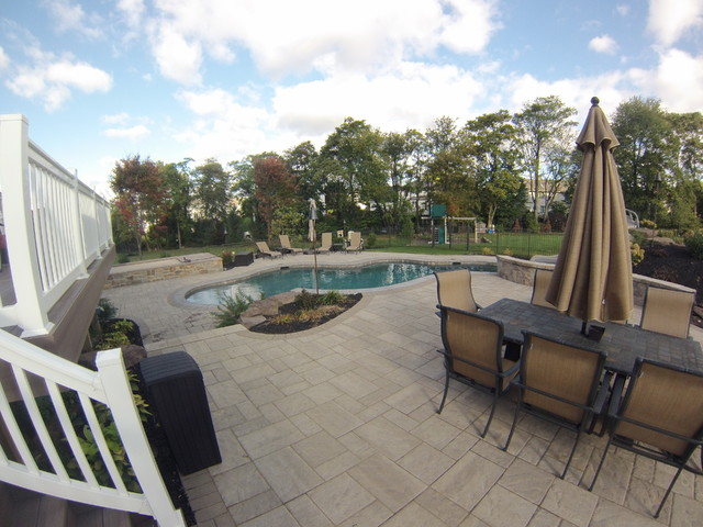 Poolside Patio & Outdoor Living Area Pool by C E