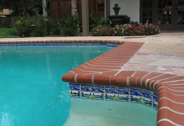 Porcelain body talavera tile in pools northern for Swimming pool ceramic tile
