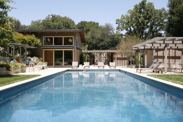 Portola Valley midcentury-pool
