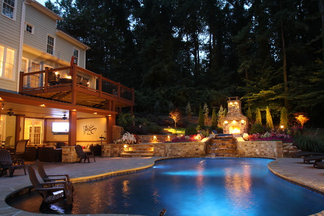 Price Pool And Outdoor Living Space Modern Pool