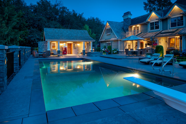 Pristine pool house traditional pool vancouver by for Pool design vancouver