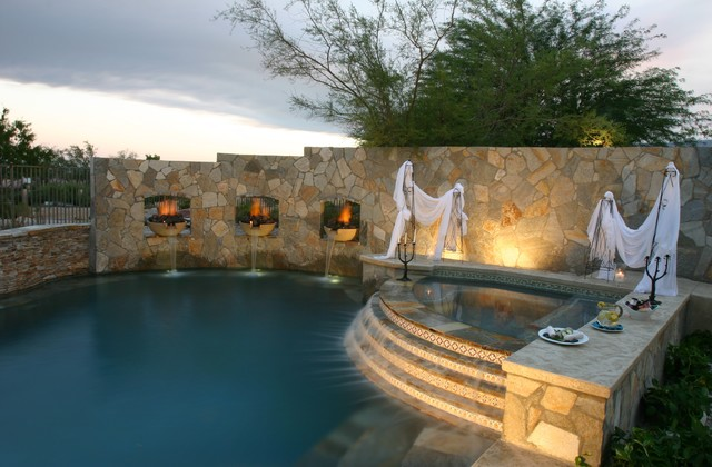 Privacy Walls Function Form And Focal Point Swimming