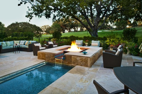 mediterranean pool Fire Pit, Hot Tub, Or... Both?