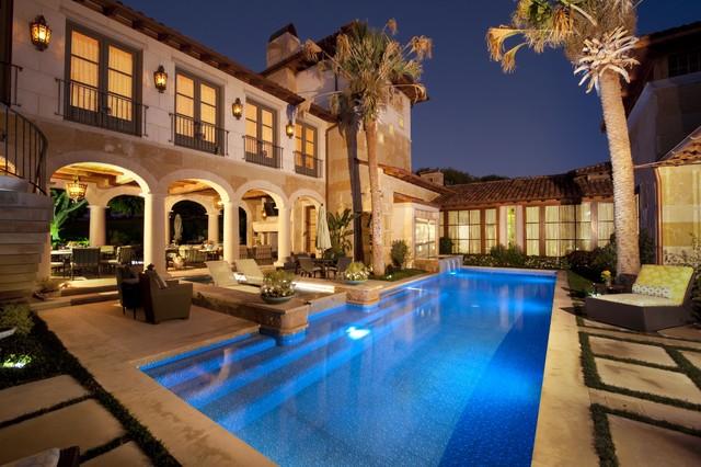 Private-As seen on HGTV Amazing Water Homes mediterranean-pool