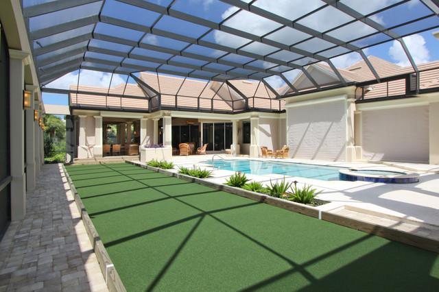 Private Bocce Ball Court Traditional Patio Miami